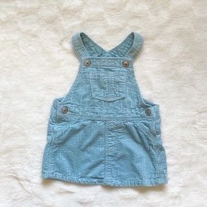 H&M corduroy overall dress 4-6 months